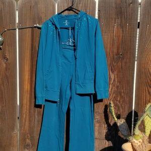 Blue jogger suit